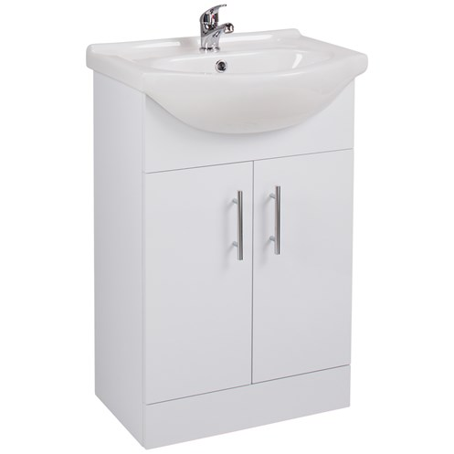 Kass 55cm Floor Standing Vanity Unit & Wash Basin