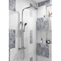 Elite Thermostatic Bar Shower & Rainhead Square