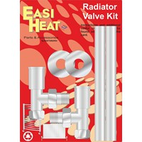 Easi Heat  Angle Pattern Towel Rail Radiator Valve Kit - 1/2in