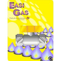Easi Gas  Copper x Copper Lever Action Mini Ballvalve - 15mm