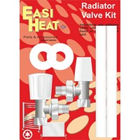 Easi Heat  Angle Pattern Standard Radiator Valve Kit - 1/2in Female