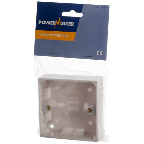 Powermaster  Pattress Box - 25mm 1 Gang