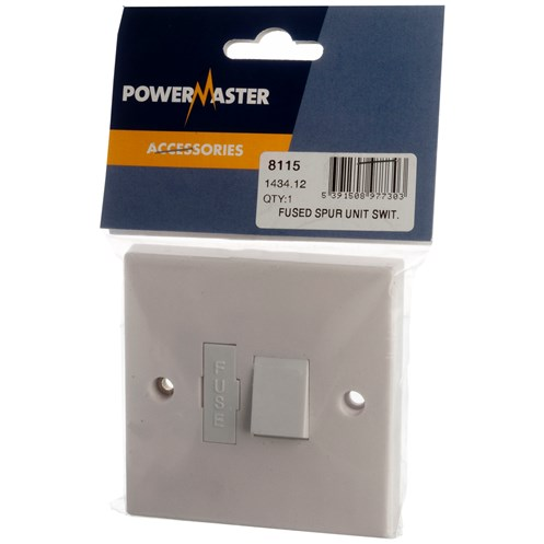 Powermaster  Switched Spur Fuse Unit - 13 Amp