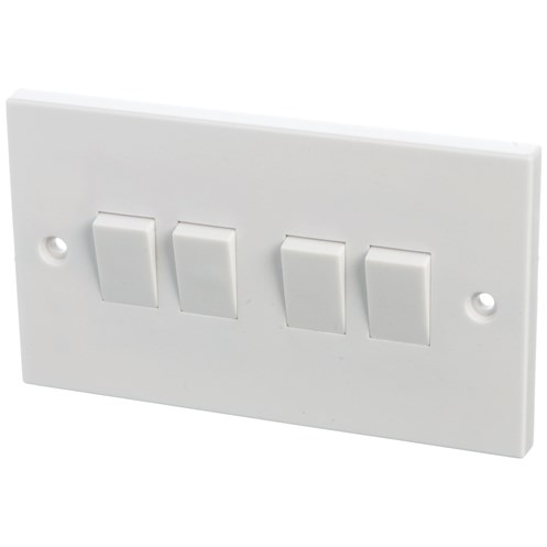 Powermaster  2 Way Switch - 6 Amp 4 Gang