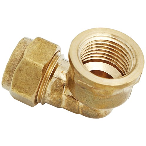 UEL  317 Compression Elbow Female Brass Pipe Fitting - 1in
