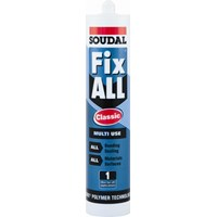 Soudal  Fix All Turbo Adhesive Sealant White - 290ml