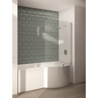 P Shaped Righthand Single Ended Shower Bath & Panel 1700x900