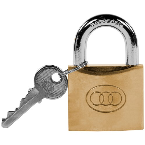 Tri- Circle  Heavy Duty Brass Padlock - 25mm