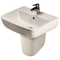 Sonas Series 600 Washbasin & Semi Pedestal - 52cm